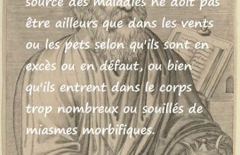 Citation de Hippocrate sur les vents et les pets