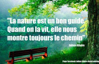 La nature est un bon guide qui nous montre toujours le chemin